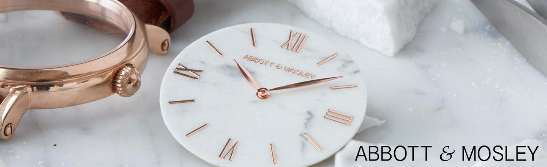 Abbott & Mosley er stolte af at være skaberne af unikt udformede ure, der kombinerer klassisk design med et unikt håndværk. Pure italiensk marmor er skåret med præcision, og og remme af italiensk kalvelæder. Vov at være unik.