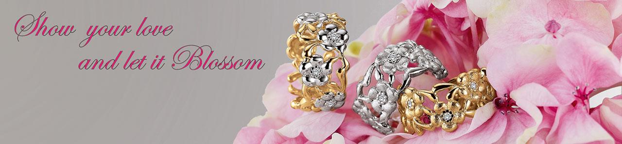 Blossom smykker er håndtegnede smykker med sjæl.