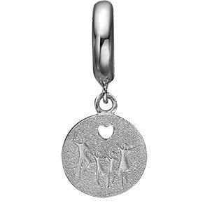 Charms til Christinas Jewelrys Sølv-/Guld- og Slim Læderarmbånd 4 mm